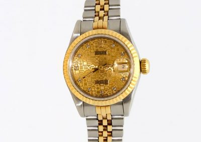 Women's 1988 18K Two-Tone Diamond Anniversary Rolex Quickset I-7319