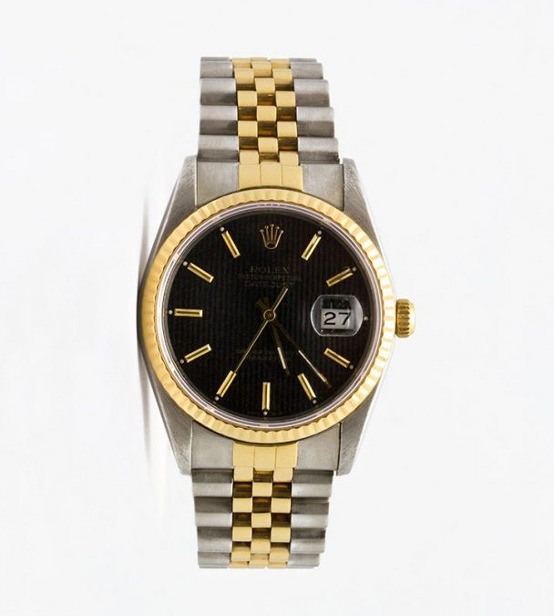 1987 18KT Two Tone Gentlemen's Tap Dial Datejust
