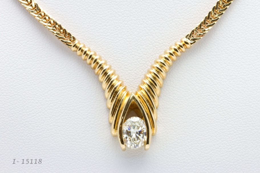 14K Yellow Gold 1.50 Oval I-15118 $7900