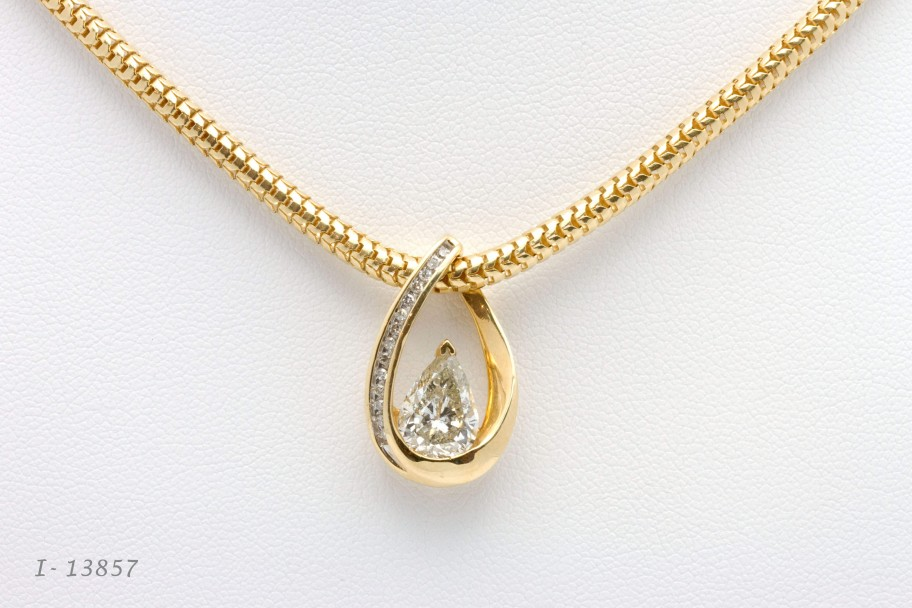 Westchester Gold 14K Yellow Gold 2.29 Pear Diamond Slider I-13856 and 13857