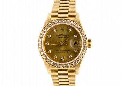 0009. Rolex gold diamond bezel I 15911jpg