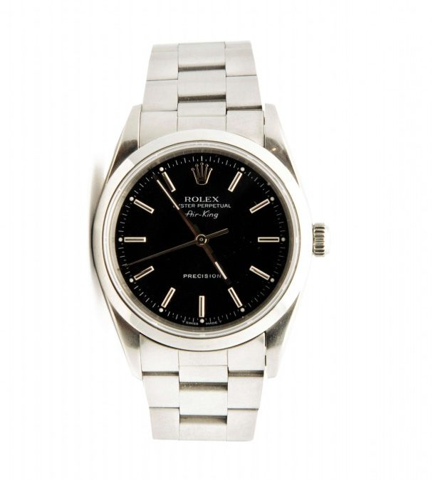 1990 1/2 Stainless Steel Air King Rolex
