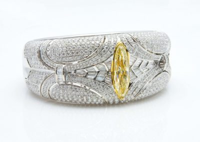 W.Gold (52)Diamondandyellowdiamondbracelet