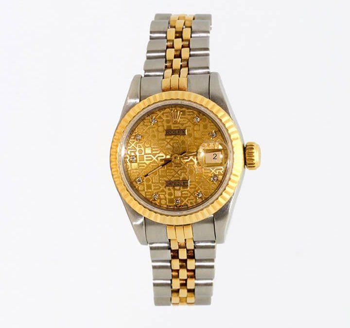 Women's 1988 18K Two-Tone Diamond Anniversary Rolex Quickset I-7319