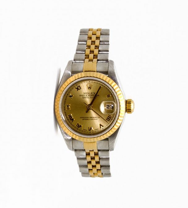 Women's 1997 1/2 18K Gold Two-Tone Datejust Roman Numeral Dial with Quickset I-10858