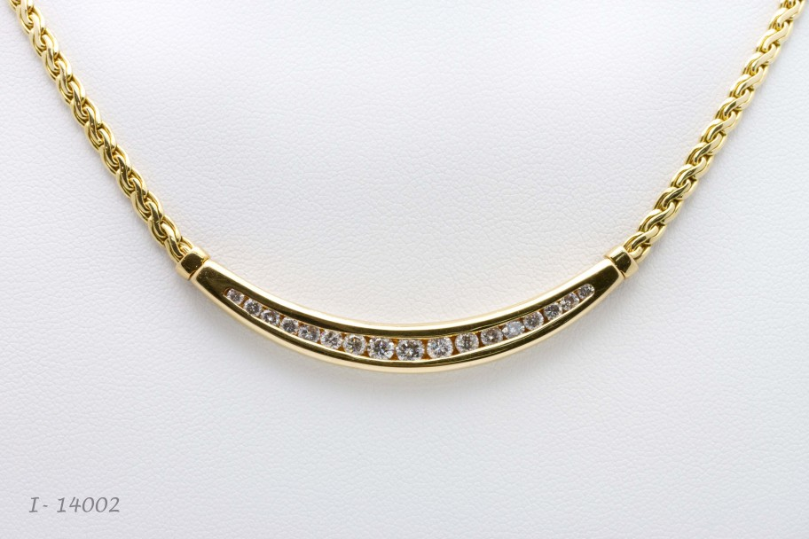 Westchester Gold 14K Yellow Gold 1.50 CTW Round Diamond Chevron Necklace I-14002