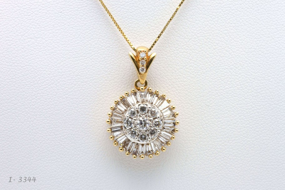 14K Yellow Gold 2 CTW Diamonds I-13344 $3200