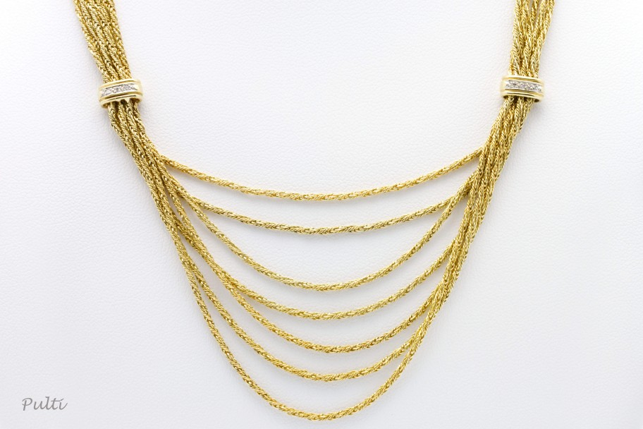 Westchester GoldMulti-strand 14K Gold with Diamonds sold by gram